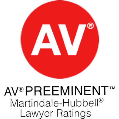 MARTINDALE-HUBBELL AV PREEMINENT RATING Only attorneys with the greatest professional abilities and ethical standards are awarded this rating. Our firm was honored to be included on this exclusive list for over 20 years.