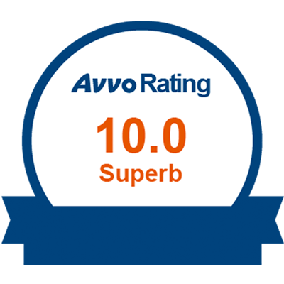 """AVVO RATING 10 SUPERB This ranking organization considers a wide variety of information collected by state bar associations and other organizations to rank lawyers in all areas of expertise. """"Superb"""" is the highest AVVO rating."""